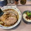春木屋 - 料理写真:わんたん麺 青菜肉めし