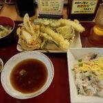 天ぷら食堂おた福 - 福助天ぷら定食