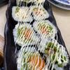 廻鮮寿し丸徳 - 料理写真:海老天の巻き寿司(名前は忘れました) なかなか旨い。