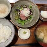 野趣家 - ネギトロ山芋丼セット