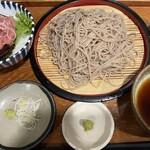 野趣家 - 江戸切り蕎麦とミニネギトロ丼のセット