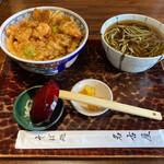 そば処 名古屋 - かき揚げ天丼セット