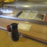 福寿司 - カウンターに着席です