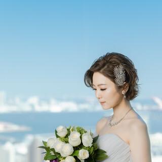 天空のWedding☆神戸の景色をバックに花嫁が一番輝く場所