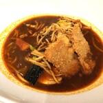 札幌スープカレー本舗 - 牛肉入りハンバーグとヒレカツ