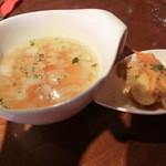 15274393 - ランチセットのスープとタパス