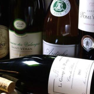 ワイン好き注目!充実のワインメニュー