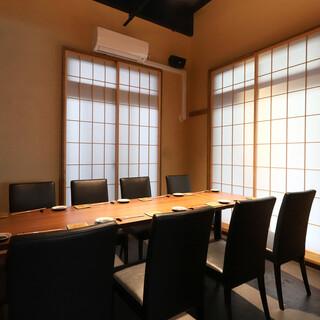 個室は3名様から最大48名様まで対応。