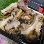 東和鮮魚 - サザエも厚切り。磯の香りゴリンゴリン旨すぎ。