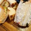 ラ ベルコリーヌ - 料理写真:タマゴサンド ¥302- ポテトサラダ ¥318- 北海道コロッケサンド ¥291