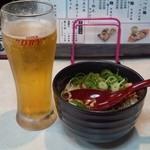 麺屋 夢人 - 生ビールとチャーシュー丼!