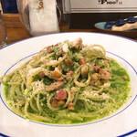 FIGO - ベーコンとほうれん草とバジルのスパゲッティ