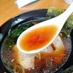 大連 - 【2021.6.10(木)】醤油ラーメンのスープ
