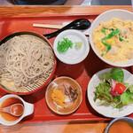 源氏 蕎麦 - 大山鶏特選親子丼+ざる蕎麦