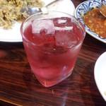 桃李 - 赤い梅酒380円