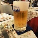キング オブ ダイニング - ビールはジョッキ。これを2杯が正解か!