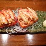 大ちゃん - 料理写真:花咲ガニ甲羅(むきみ)2人前で1000円