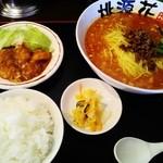 桃源花 - 担々麺とエビチリのセット(ランチ)