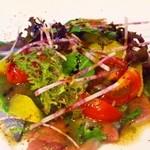 オステリア イート - 野菜をふんだんに使った盛り付けが女性に大人気!