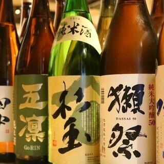 豊富な日本酒は純米酒にこだわっています