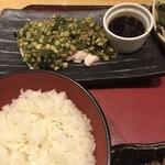 車 - 蒸し鶏と夏野菜のポン酢