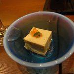 美食米門 - 【前菜】秋茄子の胡麻寄せ フィヨルドルビーと共に