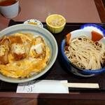 松本屋 - カツ丼と冷ミニかけそば