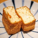 152845986 - 大桃豆腐の揚げたて厚揚げ