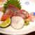 高太郎 - 料理写真:お造り  鴨川産の金目鯛、岡山県産の蝦蛄、石巻の銀鮭、天草のかんぱち、金華山の根蛸、天草の伊佐木