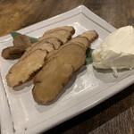 鳥吉 - いぶりがっこクリームチーズ