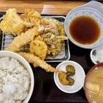 揚げ天まる - 料理写真:上天ぷら定食