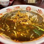 芳香園 - 黒坦々麺アップ