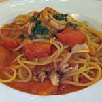 15286584 - 海の幸のトマト風味スパゲティ