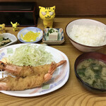 えびいち - 大エビフライ定食 700円(税込)