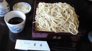 そば屋 長森 - 十割そば(750円)+大盛り(200円)