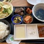 大徳壽 - スープはわかめスープも選べる。ご飯は大・中・小から選べる。