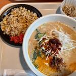 博多餃子舎 603 - 味噌坦々麺+半チャーハン