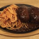 洋食 もりい - 料理写真:ハンバーグスパゲッティ ダブル