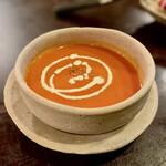 猫町 - ローストトマトの冷製スープ