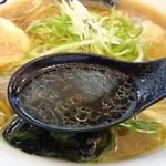 麺処てっぺん - 幻鶏ラーメン スープアップ