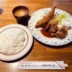 グリル シマダ - エビかつ定食