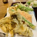 蕎麦處 しみず - 野菜天麩羅盛り