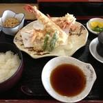 大船 - クマエビ天ぷら定食 うまい