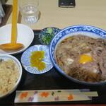 釜ひろ - スタミナぶっかけ+ちょっとかやくご飯