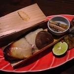 柳庵 - 3000コース5品目、さわらの杉板焼き