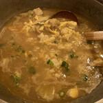 Sumouchayaterao - 〆のカレー雑炊。 スープを多めに残すのがポイント。