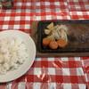 グリル・ラクレット - 料理写真:100%ビーフハンバーグステーキ Aセット 1,650円(税込)