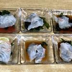 152925764 - 鯛のうすづくり 6皿