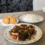kamal kare - 料理写真:魚デビル、魚コロッケ、ライス