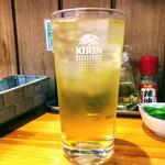 ラーメン専科めんや - ラーメン専科めんや 緑茶ハイ350円